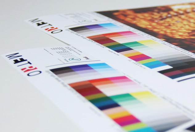 <h5>GMG CMYK proofs</h5> Our GMG CMYK proof control service guarantees reliable and complete quality control of digital colour proofs based on international industry standards.