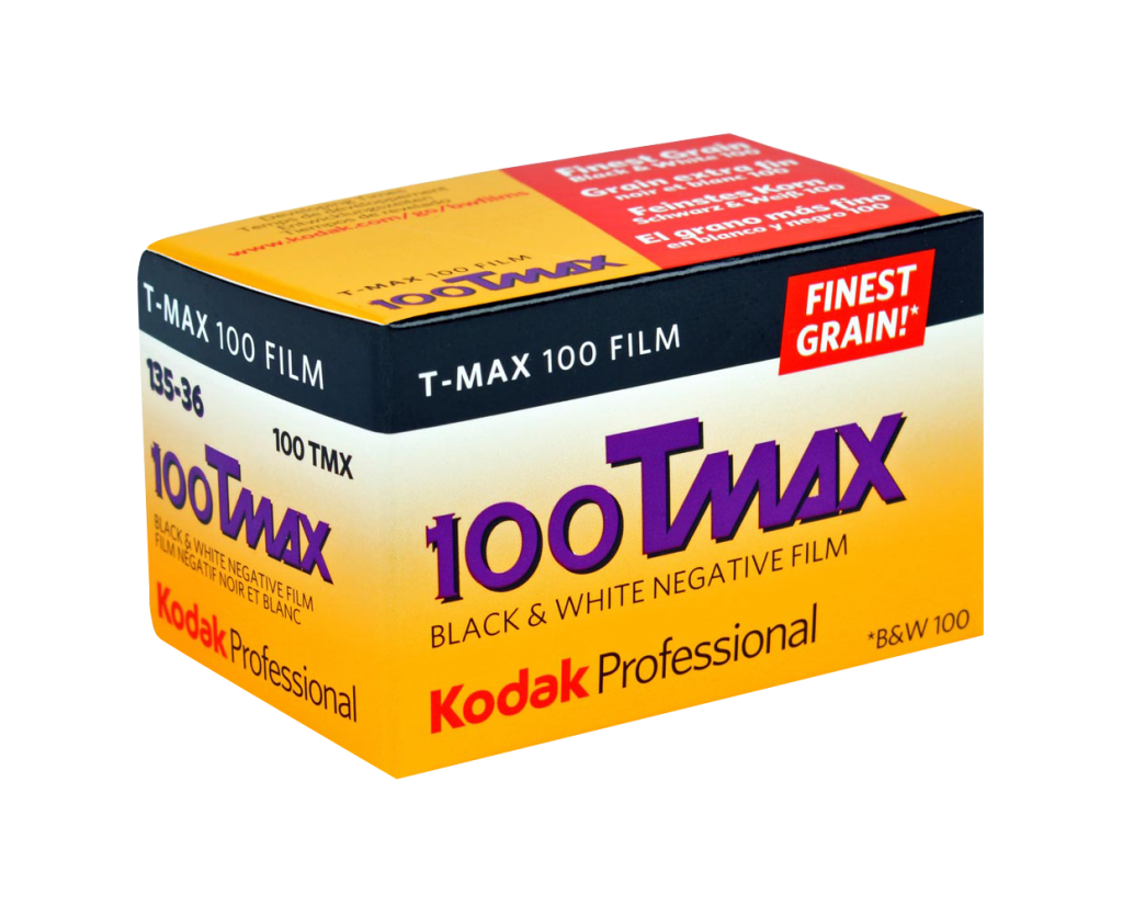 KODAK T-MAX 100 Professional Film is a continuous-tone panchromatic black-and-white negative film for general outdoor and indoor photography. It is especially useful for detailed subjects when you need maximum image quality. Available formats: 35mm, 120, 5×4