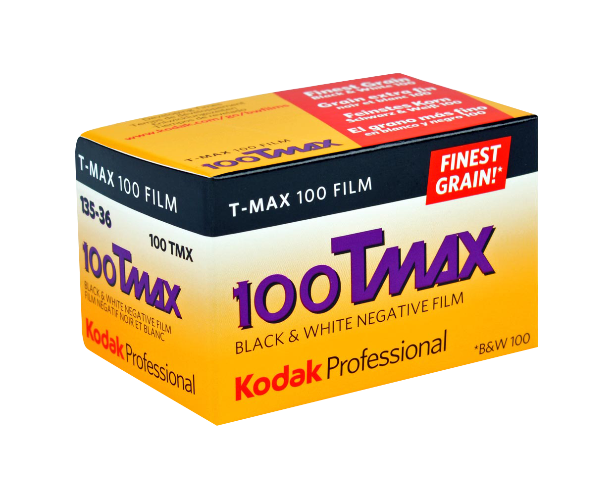 <h5>Kodak TMAX 100</h5> KODAK T-MAX 100 Professional Film is a continuous-tone panchromatic black-and-white negative film for general outdoor and indoor photography. It is especially useful for detailed subjects when you need maximum image quality. <br>Available formats:35mm, 120, 5x4