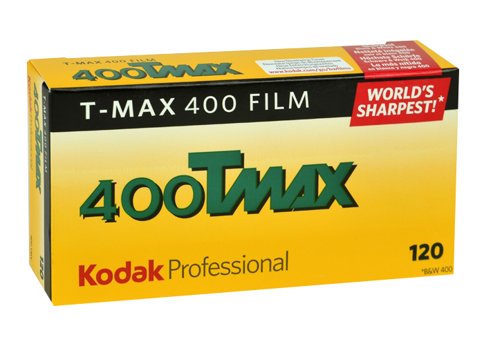 KODAK T-MAX 400 Professional Film is a continuous-tone panchromatic black-and-white negative film for general outdoor and indoor photography. 400 iso is especially useful for detailed subjects when you need maximum shutter speed. Available formats:35mm, 120, 5×4