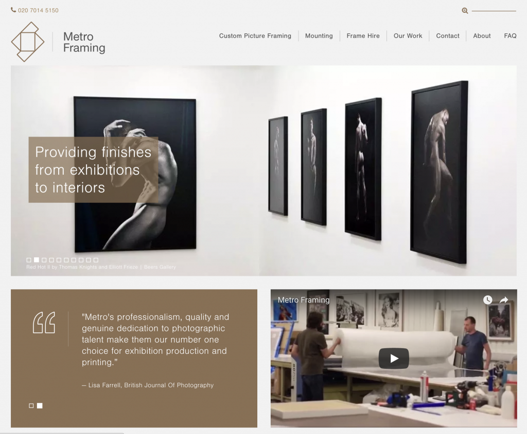 We are proud to officially introduce our new Metro Framing website, the dedicated framing branch of Metro Imaging. Our years of experience in the photographic industry have taught us how important it is for us to adapt and grow with our clients needs to provide a full production experience for artists. As part of this initiative […]