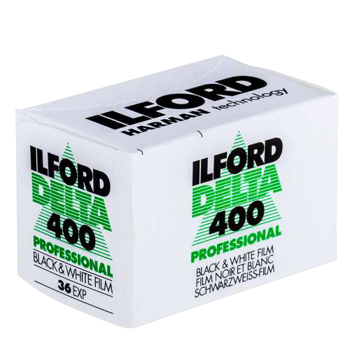 Ilford DELTA 400 - High speed ISO 400, high speed, maximum sharpness and detail, black & white film. Ideal for most photographic applications or genres. Core-Shell™ crystal technology Available formats: 35mm and 120