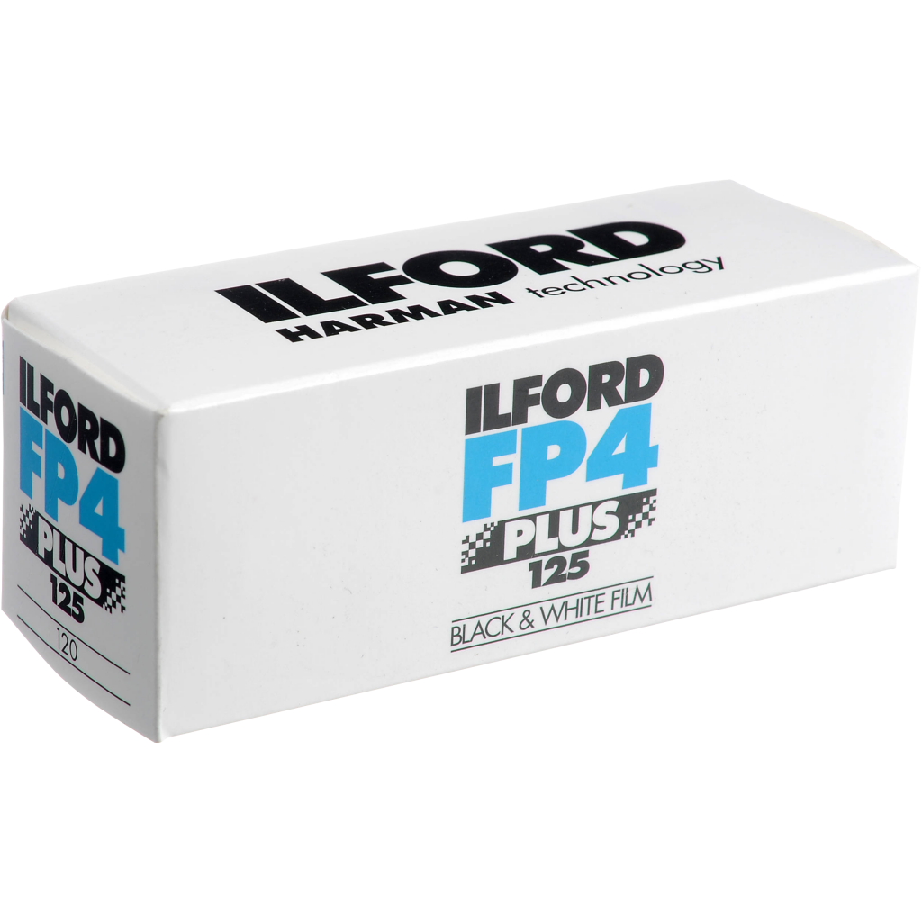 Medium speed ISO 125, all-purpose black & white film with fine grain, medium contrast and high sharpness. Ideal for most shooting scenarios in good light conditions. Robust exposure tolerance Available formats: 35mm, 120 and 5×4