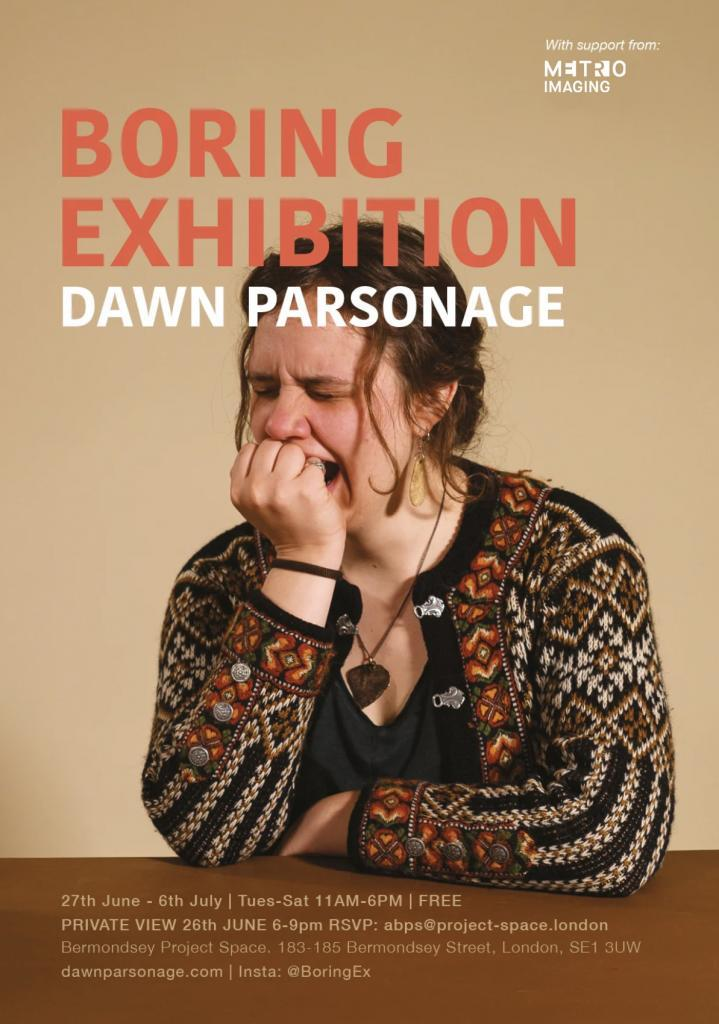 Are you ready to immerse yourself in boredom? Dawn Parsonage has been working hard on her latest project and debut show The Boring Exhibition. Opening on 27th of June, the series delves into boredom through photography, film and interaction via the artists found photography and newly created body of work – resulting in a humorous, […]
