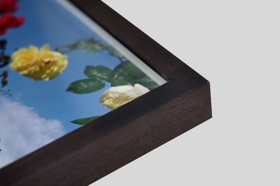 Box frames have a fillet which creates a space between the print and the glazing, so there is no contact with the glass, for a deep box effect. Using Waterwhite float glass, your print is mounted first to Foamboard before being set into a box moulding with a fillet. This can be with a deep […]