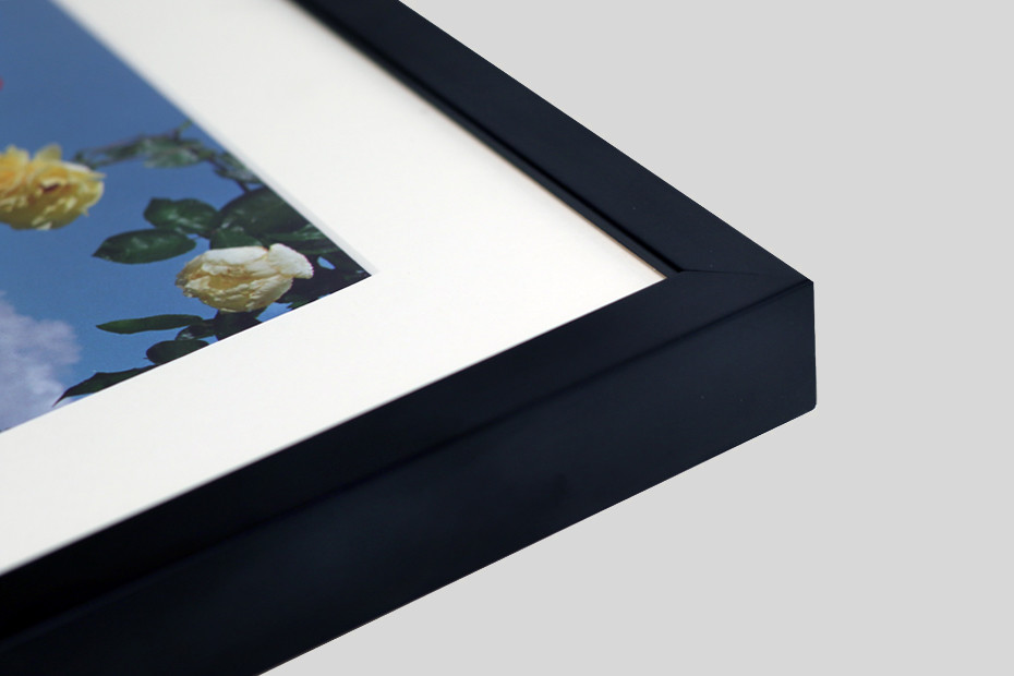 Classic picture frames are available in a wide variety of mouldings from natural woods which are perfect for warm tone prints, to hand stained or satin finishes for a more contemporary feel. Framed with or without a window mount, this is perfect for showing off strong photographic prints.